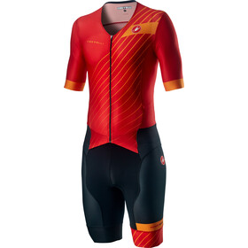 Castelli Free Sanremo 2 Combinaison manches courtes Homme, red/fiery red